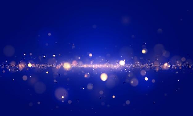 반짝이는 마법의 금 황사 입자