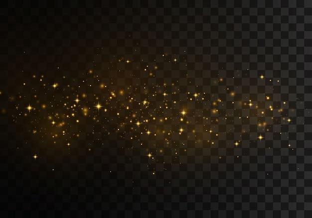 Сверкающие волшебные частицы.