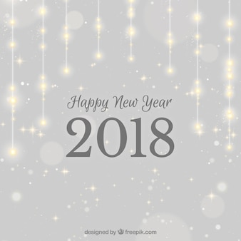 Sparkling silver new year 2018 background