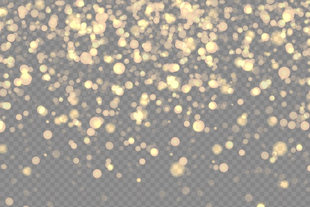 Sparkling star effects on a transparent background.