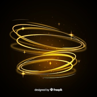 Sparkly light whirl effect with transparent background