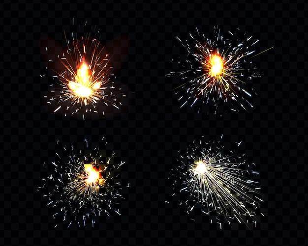 Sparks fire set