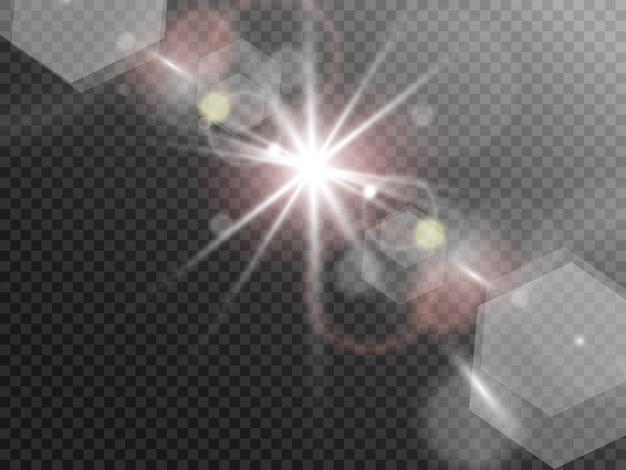 火花キラキラ特殊光効果、スターバースト、ボケ効果
