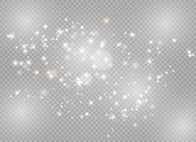 Sparks and stars glitter special light effect. sparkling magic dust particles.