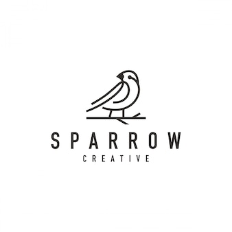 Sparrow bird logo