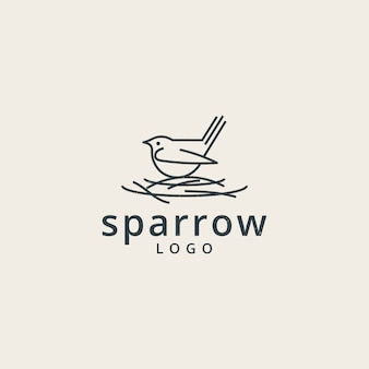 Sparrows logo with a simple line style