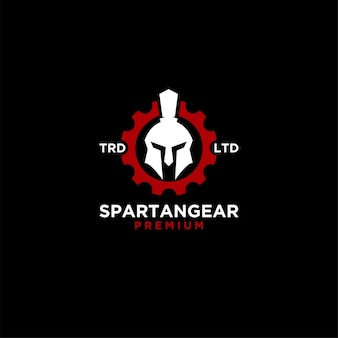 Sparta gear logo icon illustration