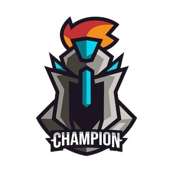 Спарта талисман для логотипа киберспорта