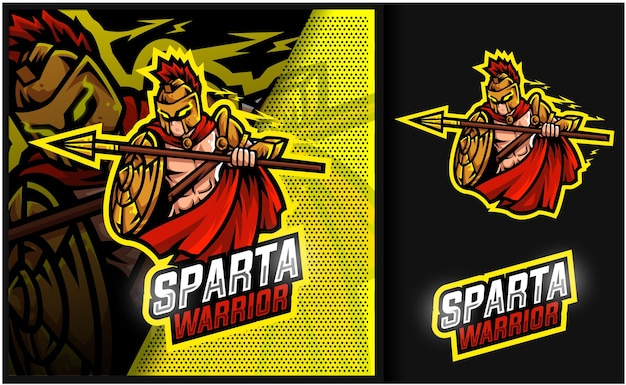 Sparta warrior gaming mascot logo