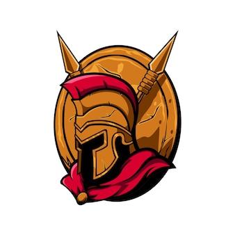Спартанский дизайн иллюстрация. идеально подходит для спортивных логотипов, игр, футболок.