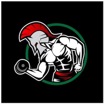 스파르타 체육관 로고 디자인