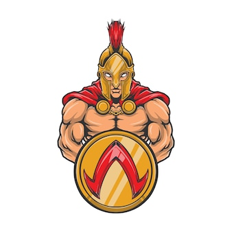 Spartan halbody artwork logo illustration