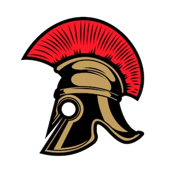 Spartan helmet.  elements for emblem, sign, badge.  illustration