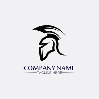 Spartan helmet, gladiator logo template