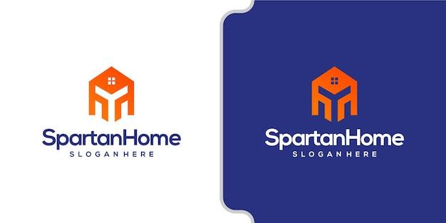 Spartan home modern logo negative spac