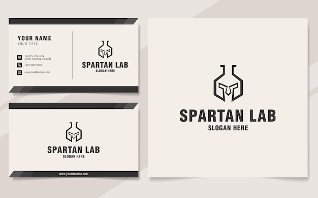 모노그램 스타일의 스파르타 연구소 로고 템플릿