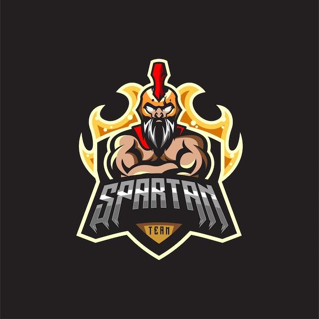 Spartan logo design premium