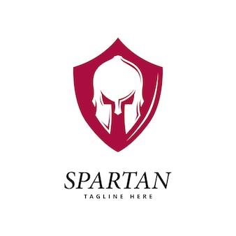 Спартанский логотип вектор спартанский шлем логотип