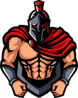 Spartan mascot character