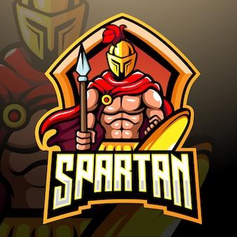 スパルタのマスコットeスポーツロゴデザイン