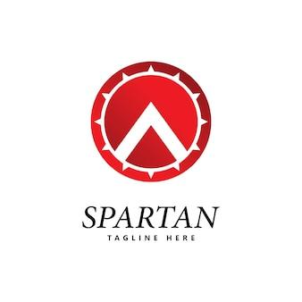 Спартанский щит логотип значок вектор