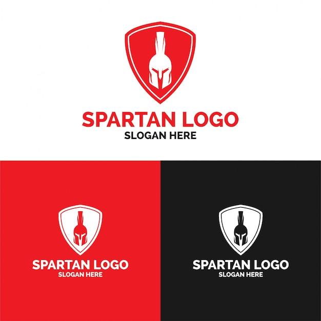 Spartan shield logo template