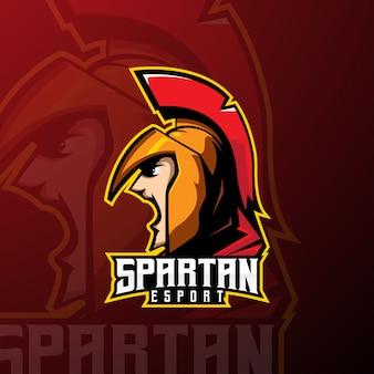 Spartan team e-sport mascot logo