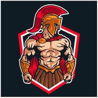 스파르타 전사 마스코트 로고