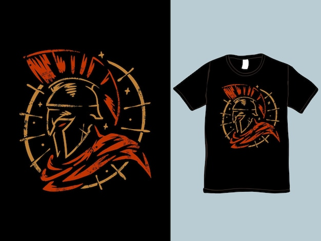 The spartan warrior t-shirt and illustration