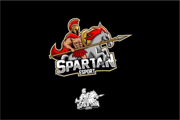 Spartan with horse mascot esport