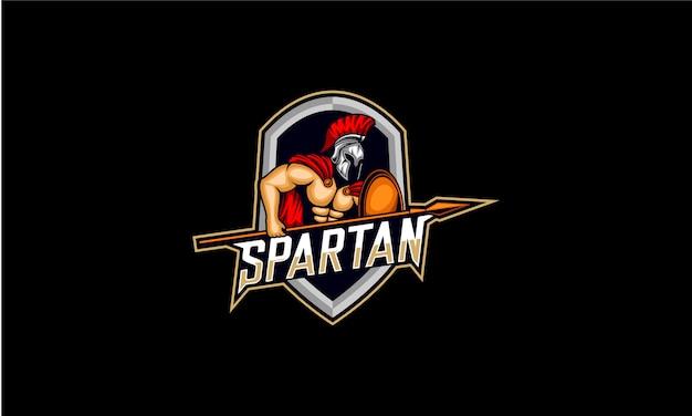 槍eスポーツロゴのスパルタン