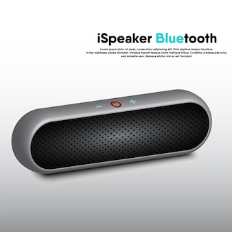 Speaker portable bluetooth realistic 3d design, electronic music speakers for listening enterainment and recreation event.