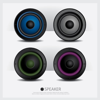 Speakers isolated illustration