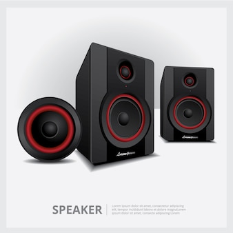 Speakers isolated vector illustration