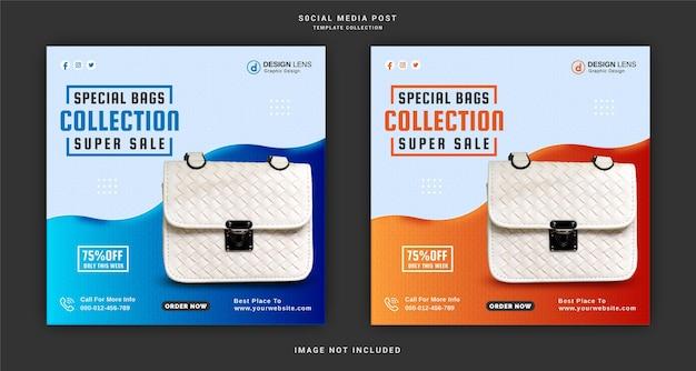 Special bag collection super sale social media post