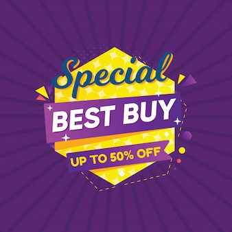 Special best buy for banner or sticker sale