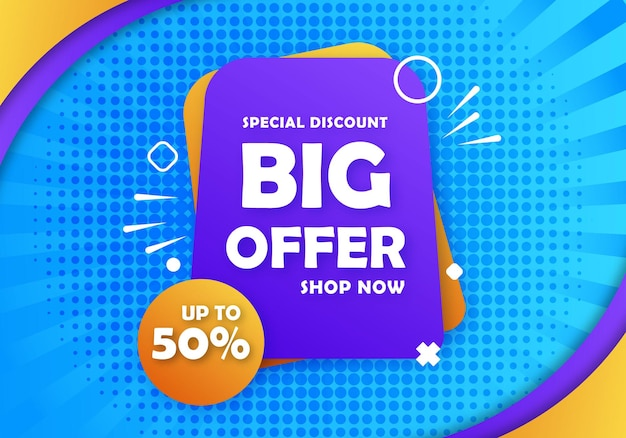 Special big offer discount banner background