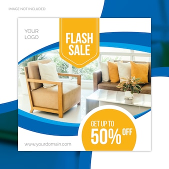 Special big sale offer furniture social media web banner template