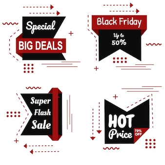 Special black friday brown banner set vector