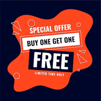 Special buy one get one free sale offer background