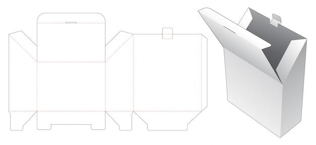 Special cardboard packaging die cut template