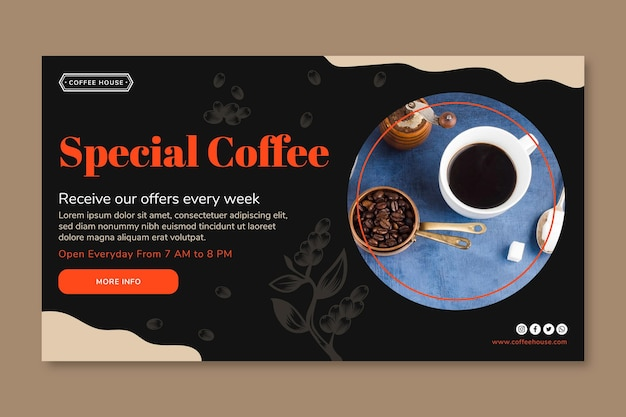 Special coffee banner template