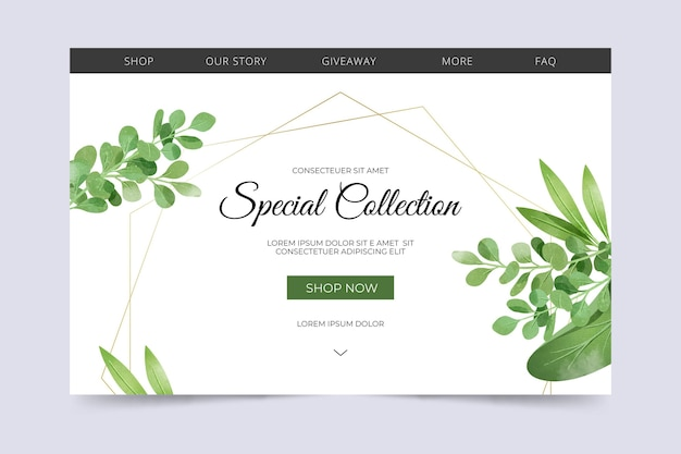 Special collection landing page