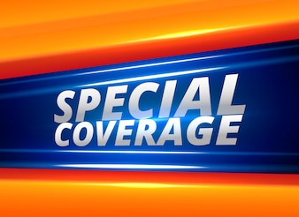 Special coverage news report alert background