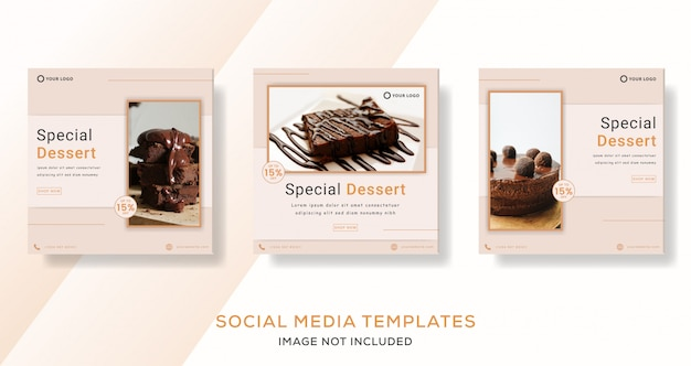 Special dessert cake chocolate banner post