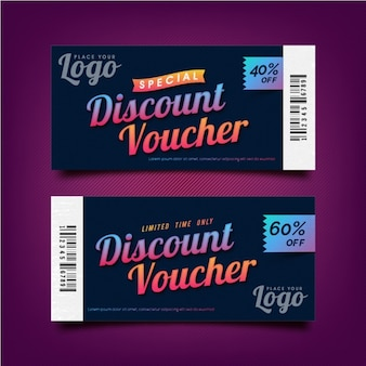 Special discount voucher template