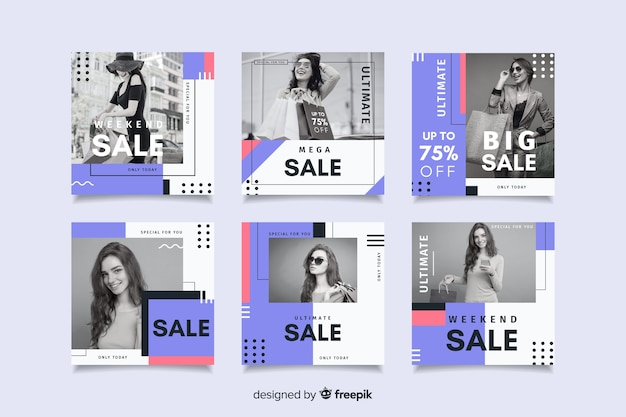 Special discounts on instagram template