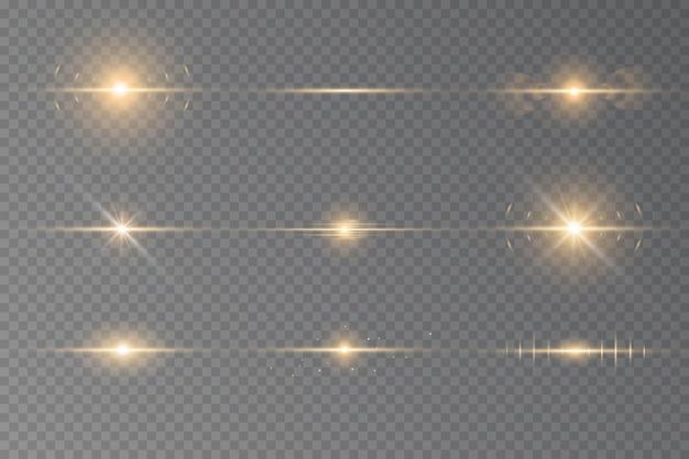 빛의 광선과 마법의 반짝임으로 특수 효과