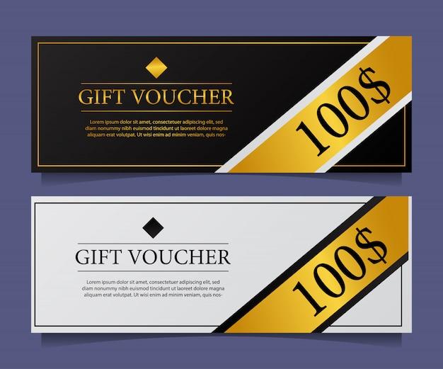Special elegant modern gift voucher
