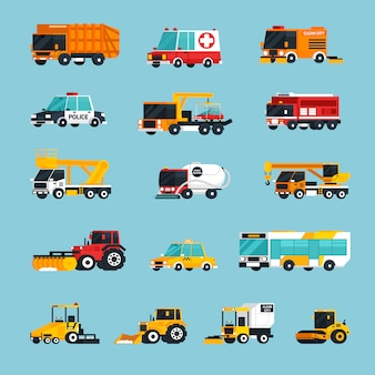 Special and emergency transport infographics